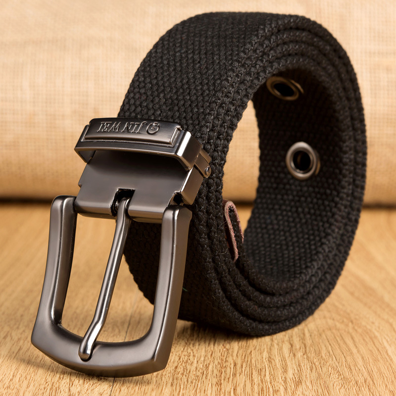 Plus Size 100-160cm Real Cintos Femininos Cinto Feminino Belts For Men Male Canvas Belt Pin Buckle Lengthen Nylon Knitted Strap
