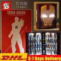 NEW Creator ideas super hero iron Man Book Box Base Gnaku Hall of Armour Figures Building Blocks Sets Kits Bricks Kids Toys City