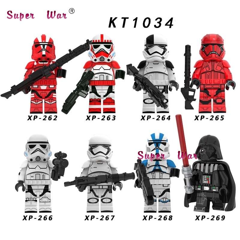 Single Star Wars Mandalorian  Storms Troopers Clones Skywalker Leia Darth Vader Han Solo C3PO Building Blocks Model Bricks Toys
