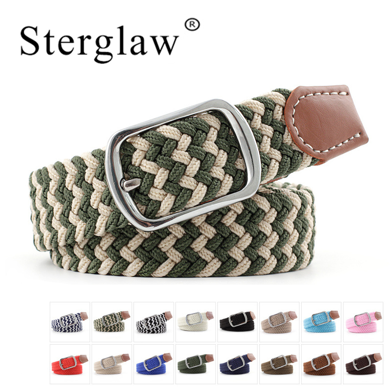 100*2.3 Pin Buckle Elastic Braided Tactical Men Belt Mens Belts Luxury Waistband For Women Waist Belt With Dress Riem Heren N205