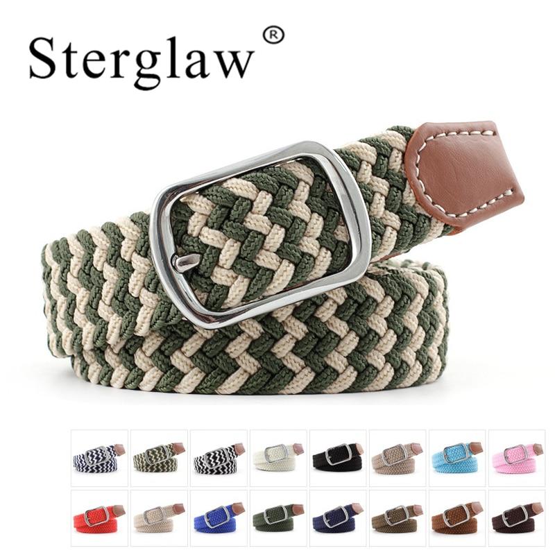 100*2.3 Pin Buckle Elastic Braided Tactical Men Belt Mens Belts Luxury Waistband For Women Waist Belt With Dress Riem Heren N205