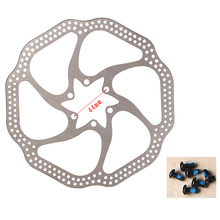 2 Pcs 160mm Disc Brake Rotor with 6 Bolts Stainless Steel Bicycle Rotors for Road Mountain Bike Use Dropshipping S27