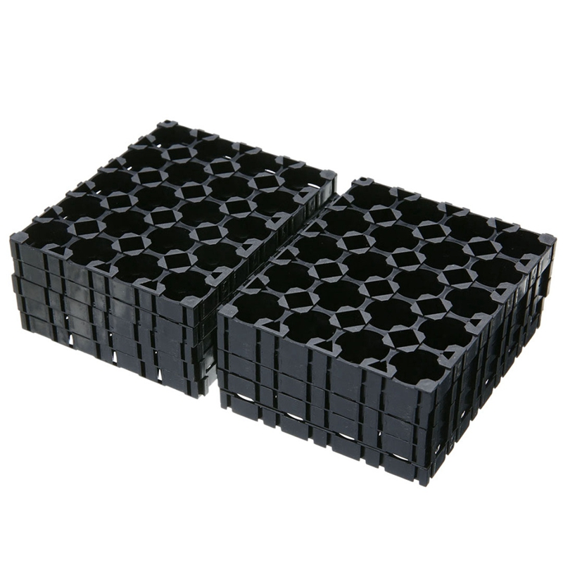 10Pcs 4X5 Cell Battery Spacer 18650 Battery Radiating Shell Pack Plastic Heat Holder Bracket|Battery Accessories| |  - title=