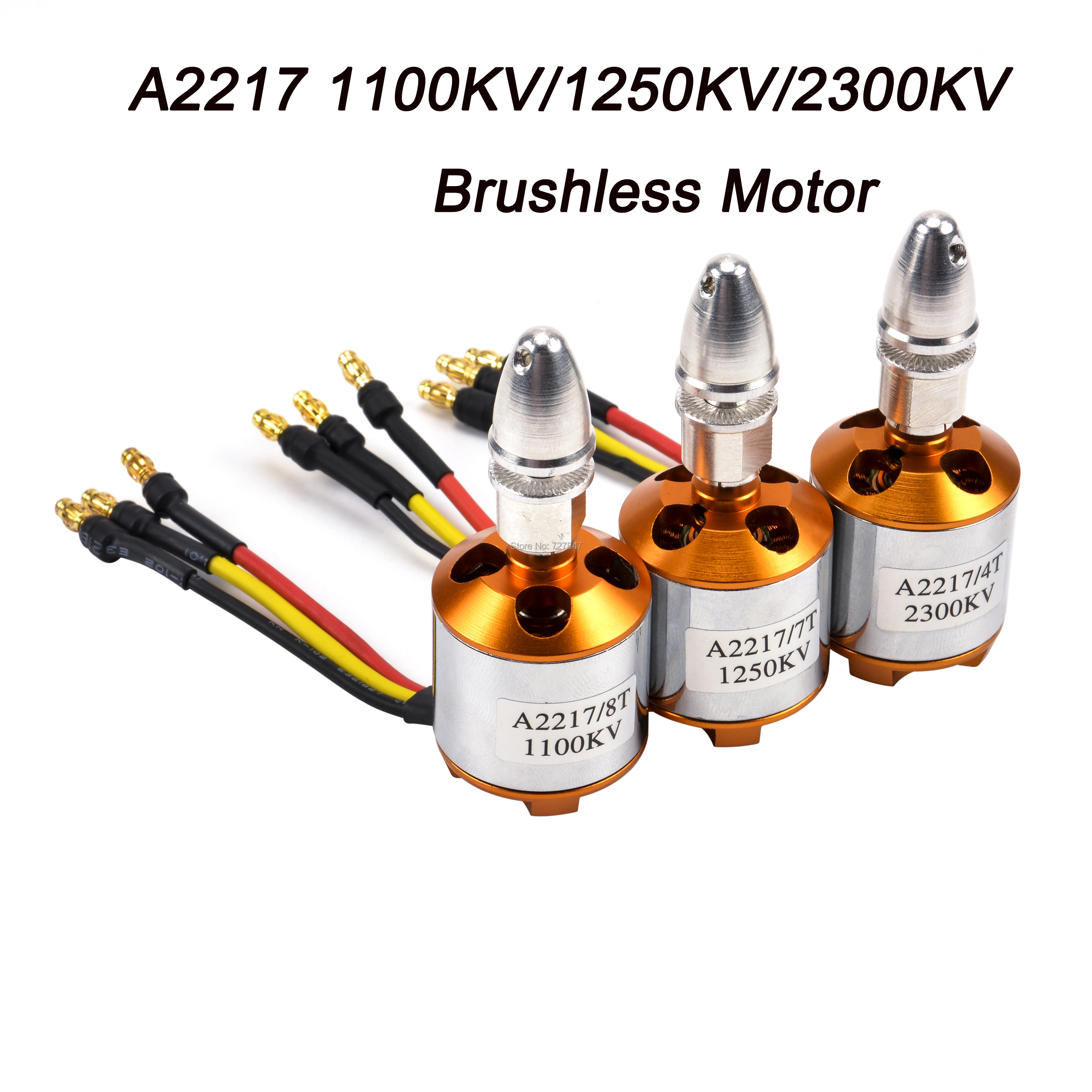 New Multi Quadcopter A2217 2217 1100KV <font><b>1250KV</b></font> 2300KV RC Brushless Outrunner Motor for 4 Axis UFO RC Fixed Wing Plane Helicopter image