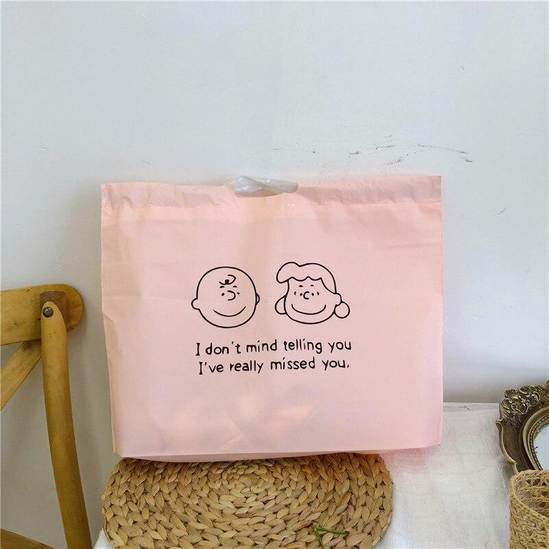 Fashion Cute Dog Drawstring Bags Simple Large Capacity Women Shopping Handbag Reuse Recycle Bag