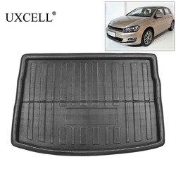 UXCELL PE + EVA пенопластовый задний багажник багажника Багажника Грузовой коврик напольный лоток ковер для VW Jetta Sedan Tiguan Golf 6 7 MK7 Polo 09-17