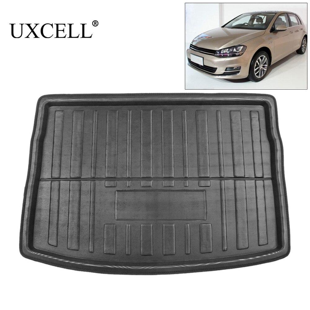 UXCELL PE + EVA espuma de plástico maletero trasero alfombra de carga tapete bandeja de piso alfombra para VW Jetta Sedan tizan Golf 6 7 MK7 Polo 09-17