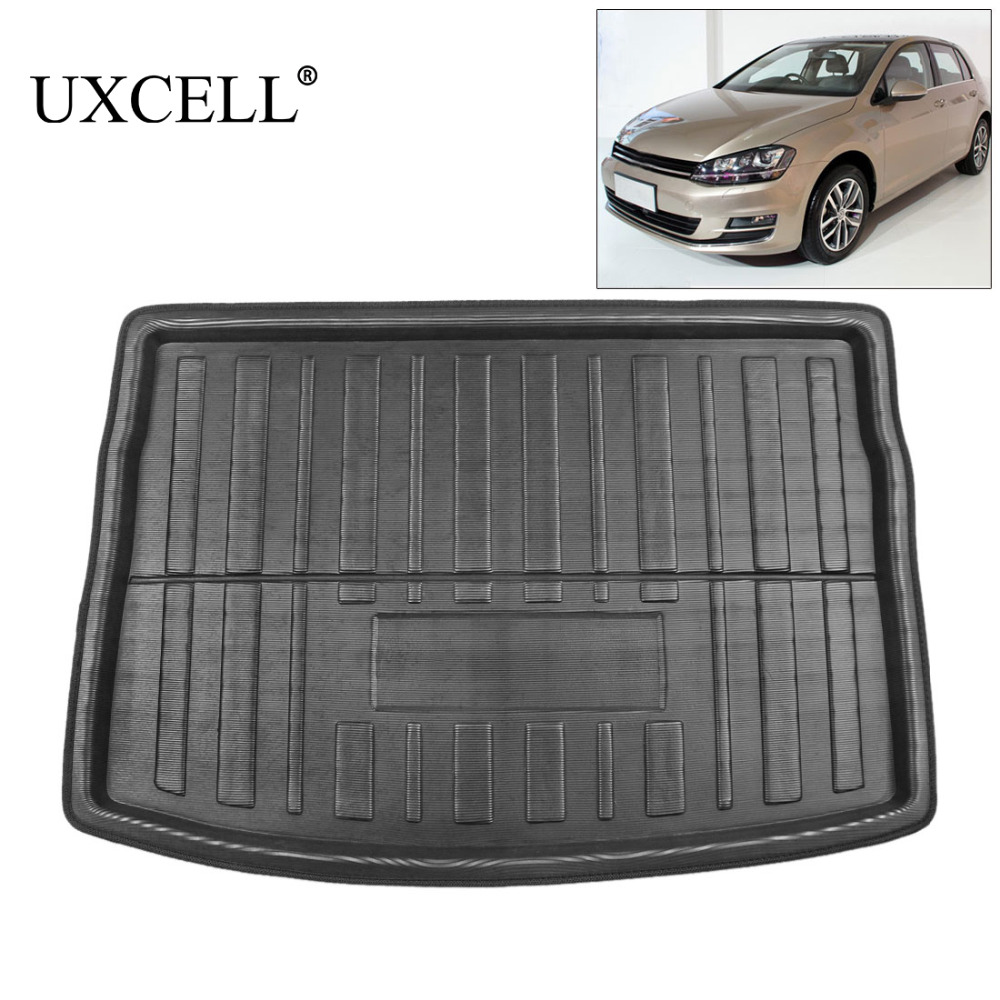 UXCELL PE+EVA foam plastic Rear Trunk Boot Liner Cargo Mat Floor Tray Carpet for  VW Jetta Sedan Tiguan Golf 6 7 MK7 Polo 09 17