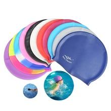 Hats Swimwear Hair-Protection Swim-Pool Waterproof Silicone Women Rainbow for Adults
