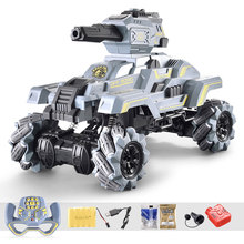 Tank-Shooting Armored Electric-Tanks Water-Ball Military-Model Drifting RC Assault