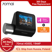 70mai Dash Cam Pro Plus A500 A500S Built-in GPS for ADAS,wifi Car DVR 1944P, Parking Monitor, 140 FOV, Night Vision,Front & Rear
