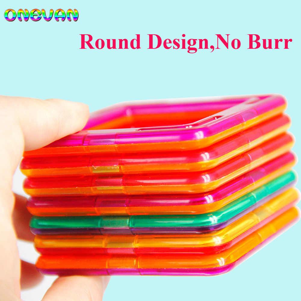 30-252 sztuk DIY konstruktor magnetyczny trójkąt kwadratowe duże cegły klocki magnetyczne projektant zestaw magnes zabawki dla dzieci