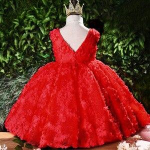 Image 2 - ちょう結び赤ちゃんのプリンセスドレス花レースのチュチュ子供のため bridemaid ドレス結婚式パーティーウエディングドレス