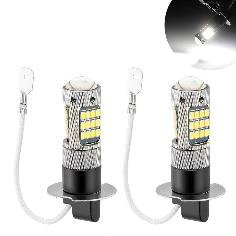 2 шт. H1 H3 супер яркий H4 H7 9005 передние и задние противотуманные фары лампы 42SMD светодиодный белый головной светильник Canbus без ошибок авто лампы...