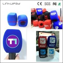 Linhuipad własne logo TV ręczny wywiad mikrofon szyba przednia szyba mic pianka