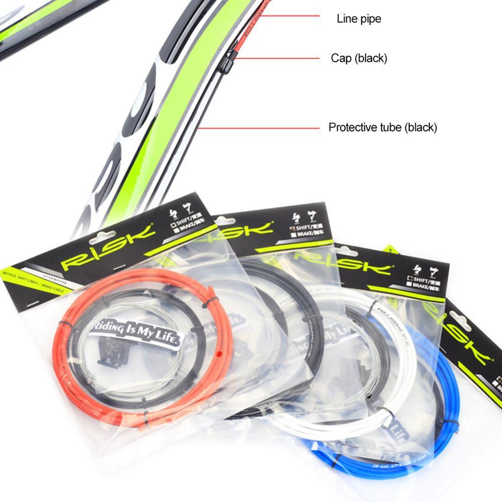 אוניברסלי הסטת אופני חוט סט 4 צבעים MTB כביש אופניים בלם כבל הילוך קדמי אחורי בלם הילוך כבל מסיטים 4/5mm Shift סט