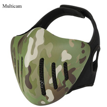Outdoor Sports Tactical Airsoft Paintball Half Face Hunting Shooting Masks CS Game Military Combat