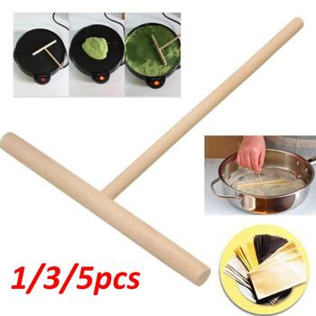 1/5Pcs Chinese Wooden Crepe Maker Pancake Batter Spreader Multi-functional Cake Kit DIY Home Kitchen Bar Tool Pie Tools image