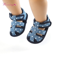 2020 Canvas Baby Shoes Baby Girl Hollow Star Soft Soled Princess crib shoes Insert prewalkers