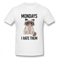 Mondays I Hate Them t shirt men Casual Fashion Men's Basic Short Sleeve T-Shirt boy girl hip hop t-shirt top tees printio i hate mondays