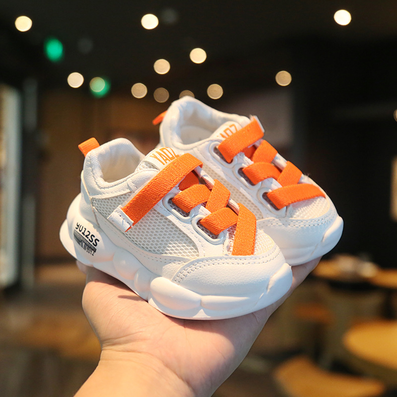 2020 Spring New Children's Breathable Clunky Sneaker Mesh Toddler Boys Girls Casual Shoes  Baby Walking Shoes Kids Dad Shoes