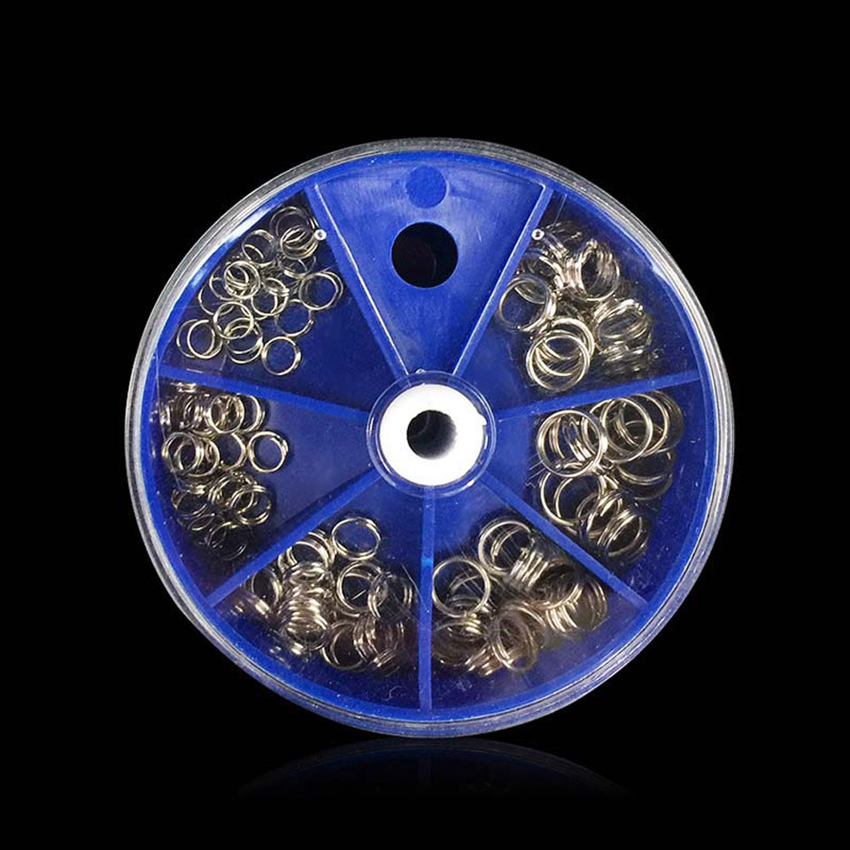 WALK FISH 115PCS/Lot Split Rings Set Stainless Steel Double Split Rings Fishing Connection Ring Of Full Size Fishing Tackle
