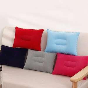Portable Soft Ultralight Inflatable PVC Nylon Air Pillow Sleep Cushion Travel Bedroom Hiking Beach Car Plane Head Rest Support