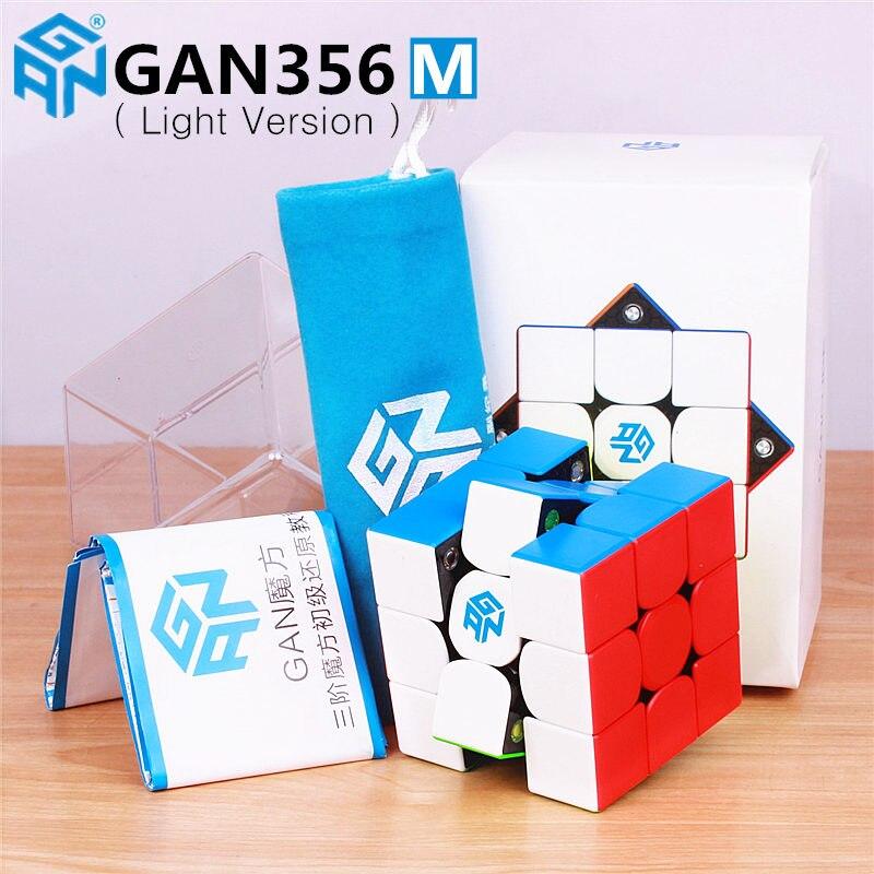 GAN356 M magnético velocidad mágica cubos Gan Stickerless GAN356M imanes profesional GAN 356 M rompecabezas GANS cubos