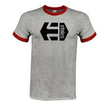 Футболка с принтом логотипа Etnies, летняя футболка из 100% хлопка с коротким рукавом и круглым вырезом, Мужская футболка размера плюс XS-3XL, беспл...