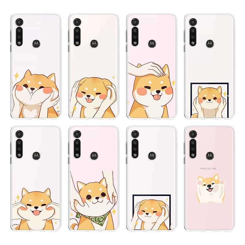 Cute Corgi Dog Silicone Case For Motorola G8 Plus G8 Play G Stylus G8 Power Lite E6s One Hyper Edge Plus Back Cover Shell