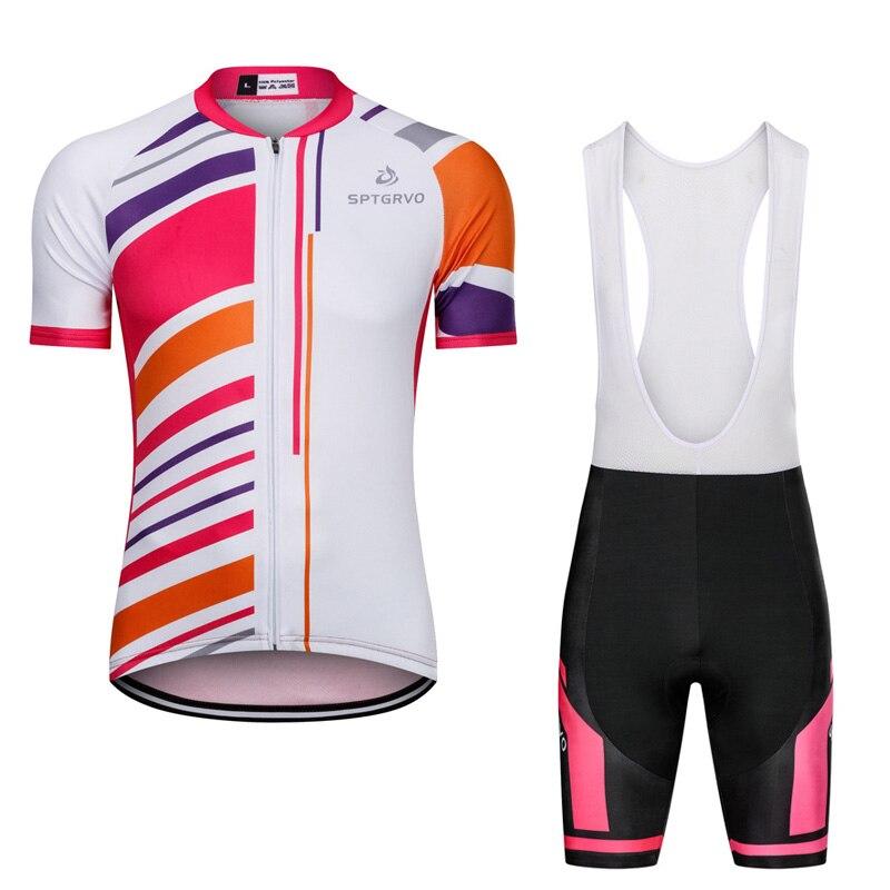 Womens Short Sleeve Cycling Jersey Shorts Set MTB Bike Bicycle Shirt Pants Kit