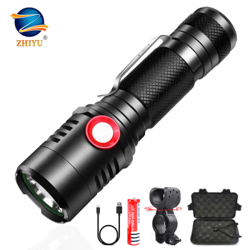 ZHIYU Rechargeable Tactical LED Flashlight XML-T6/L2 Flashlight Zoomable 3modes for 18650 with USB Cable Camping/Hunting/Biking sitemap 12 xml