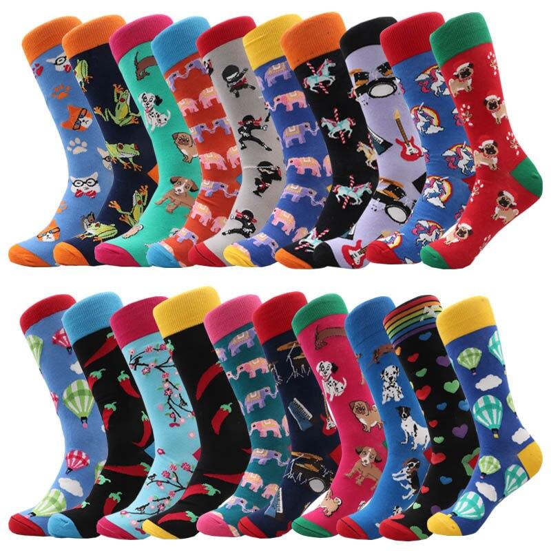 Fashion Happy Socks Man Boys Ladies Girls Cotton Soft Sox Beautiful Curve Men Funny Women Art Socks
