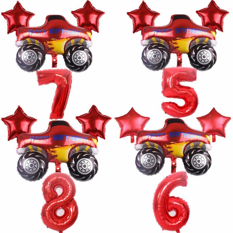 Blaze En De Monster Machines Ballon Set Party Decoratie Folie Aantal Ballon Gelukkige Verjaardag Baby Shower Feestartikelen