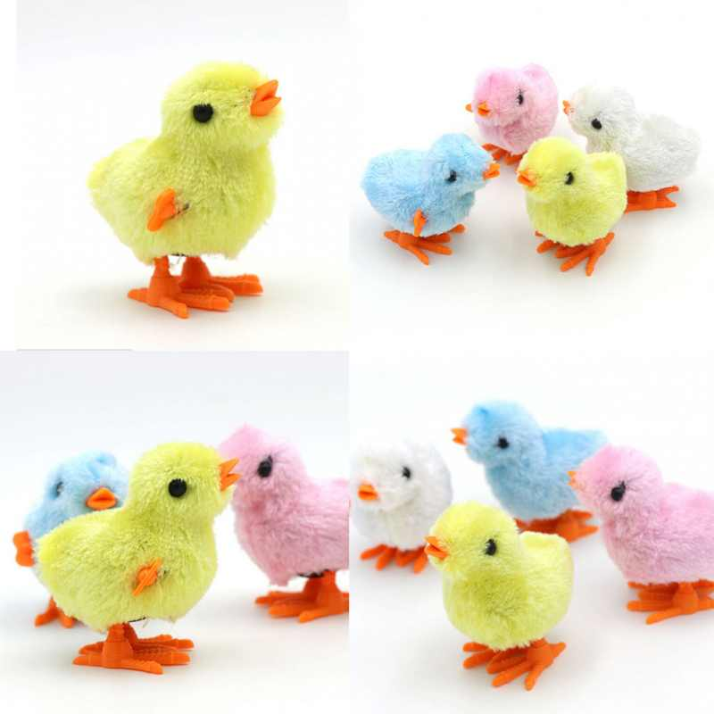 Cute Chick Pecking Meters Clockwork Jumping Toys Wind Up Toy Classic Toys for Children for Four Colors