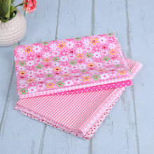 7pcs/set 25x25cm DIY Cotton Printed Cloth Sewing Quilting Fabrics for Patchwork Kids Doll Baby Cloth Textiles Fabric(China)