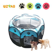 Cat Dog Octangular Tent Foldable Indoor&Outdoor Oxford Cloth Waterproof Pet Cage Playpen House Puppy Fence Portable Dog Kennel