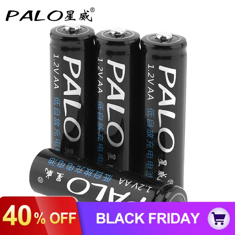 4pcs/lot PALO <font><b>1.2V</b></font> <font><b>1300mAh</b></font> <font><b>AA</b></font> <font><b>Battery</b></font> Ni-MH NiMH <font><b>Rechargeable</b></font> <font><b>Battery</b></font> with Over-Current Protection for Children Toy Mouse Camera image