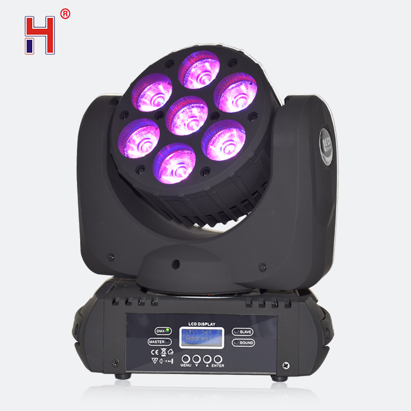 Luz con cabezal móvil Led lavable 7x12W RGBW haz LED DMX equipo de iluminación de escenario para DJ Disco luz fiesta Luz de espectáculo Creativa LED inducción magnética levitación noche luz atmósfera lámpara para dormitorio sala de estar decoración del hogar Luz colorida