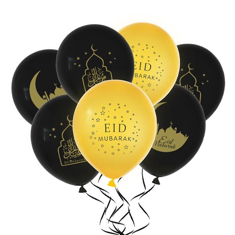 Image 3 - Eid Mubarak Decoration EID MUBARAK Balloons Banner Gift Stickers  Muslim Festival Cake Topper Ramadan Kareem Islamic SuppliesParty DIY  Decorations