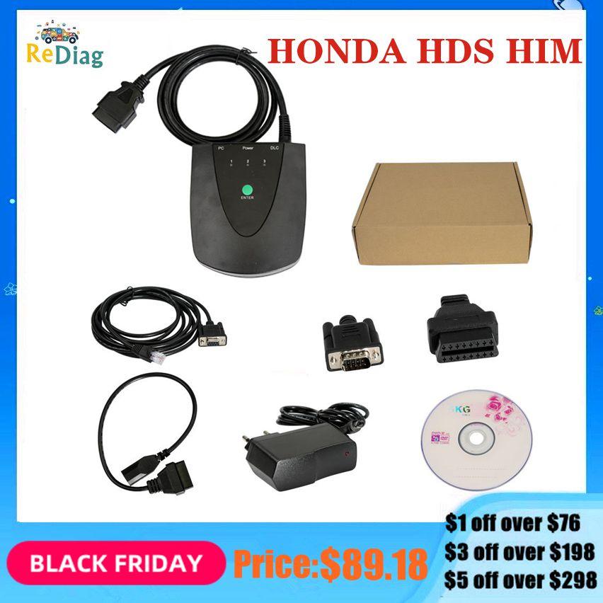 V3.102.051 для Honda HDS инструмент ему диагностический инструмент для Honda HDS новейшая версия с двойной платой USB1.1 к RS232 OBD2 сканер