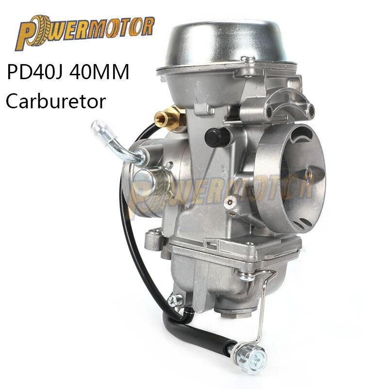 Карбюратор для мотоцикла, 40 мм, PD40J, 4-тактный вакуумный карбюратор для квадроциклов, четырехъядерный карбюратор для модели 500 дюйма, 4X4, SPORTSM