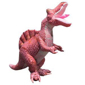 Image 2 - ผู้ใหญ่ไดโนเสาร์Jumpsuitฮาโลวีนคอสเพลย์Spinosaurusเครื่องแต่งกายCarnival Partyบทบาทเล่นDisfraz T Rexเด็กRomper