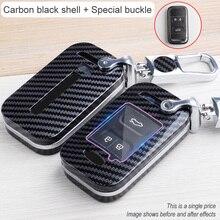 Araba anahtarı durum chery tiggo için 8 19 paragraf 5x otomatik tutucu kabuk karbon fiber aksesuarları koruma anahtarlık araba şekillendirici