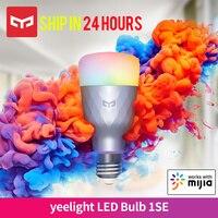 Yeelight-bombilla LED inteligente para el hogar, luz colorida inalámbrica con Control por voz, compatible con Google Home, funciona con la aplicación Mija, 1SE, 6W, RGB, E27, nuevo lanzamiento