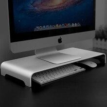 Алюминиевый монитор Стенд компьютерный стояк универсальный металлический стол подставка База до 27 дюймов экраны для ПК, ноутбука, MacBook