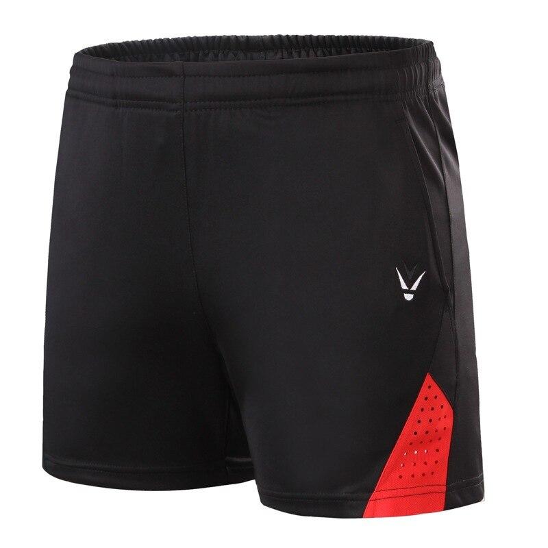Новые шорты для бадминтона для мужчин и женщин, спортивные теннисные шорты, одежда для настольного тенниса, быстросохнущая одежда для бадминтона, спортивные шорты XS-4XL - Цвет: black red