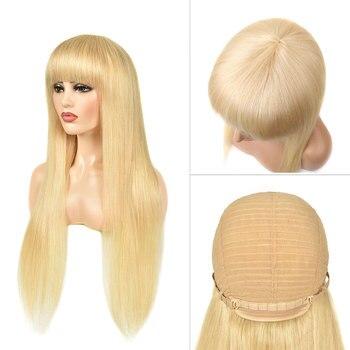 VeryYu Straight Blonde Human Hair Wig Hair Extensions & Wigs  VerYYu