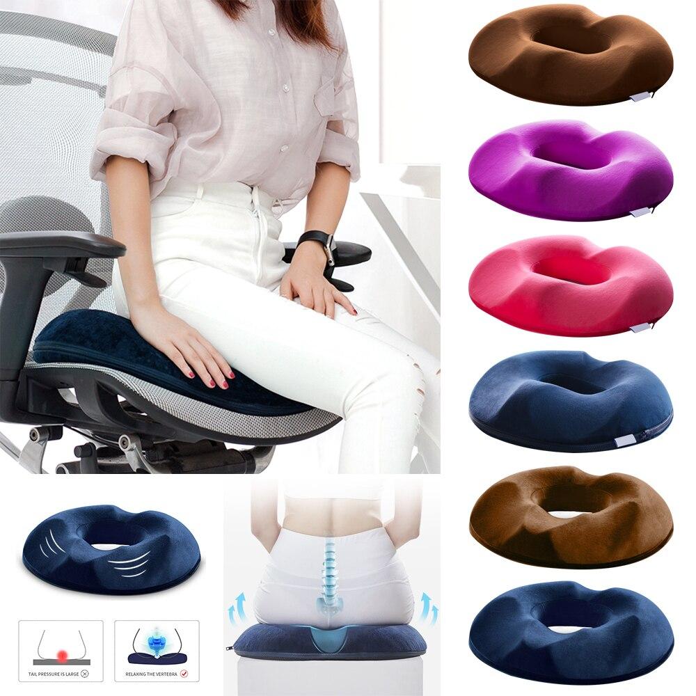 Anti Hemorrhoid Massage Chair Seat Cushion Comfort Foam Tailbone Pillow Hip Push Up Yoga Orthopedic Car Office Seat Cushion
