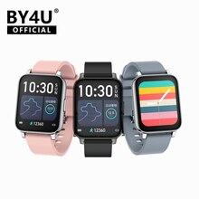 BY4U Rowatch 2 Smartwatch kadın 1.69 inç tam dokunmatik akıllı İzle erkekler su geçirmez spor bilezik saat Apple Xiaomi Redmi
